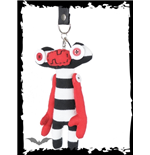 Alien keychain with stripes