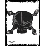 Patch: Black and grey Skull & Bones