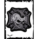 Patch: Mohawk Skull on Iron Cross