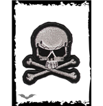 Grey and black skull patch