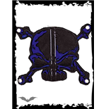 Patch: Black and blue Skull & Bones