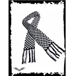 Black & white chequered scarf