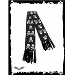 Black scarf with white skulls & X-bones