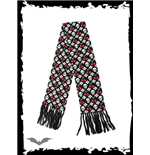 Black scarf with skulls & cherries