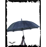Umbrella with spidernet-print