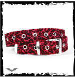 Red leopard skin belt