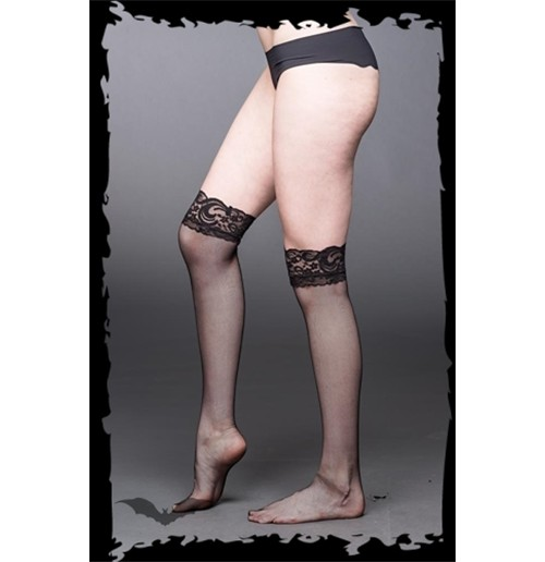 Fishnet Socks with lace and garter belt