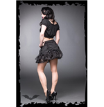 Miniskirt with lace and ribbons