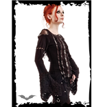 Laced Top with flared Sleeves & Leather
