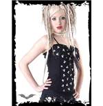 Black corset with white skull print