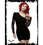 Black Dress with Detachable Sleeve/Strap