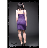 Purple Dress with Black Leopard Print