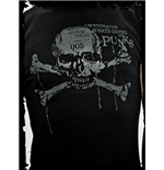 Black top with grey skull printing