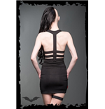 Backless Minidress, neckholder, with sma