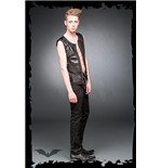 Vest with metal plate look applications