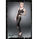 Latex-look leggings
