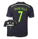 2014-15 Spain Away World Cup Shirt (David Villa 7) - Kids