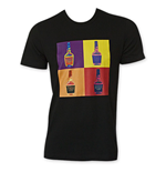 MAKER'S MARK Men's Black Pop Art T-Shirt
