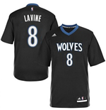 adidas Zach Lavine Minnesota Timberwolves Lights Out Sleeved Swingman Jersey