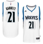 Mens Minnesota Timberwolves Kevin Garnett adidas White New Swingman Home Jersey