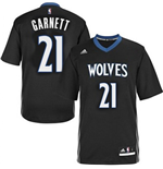 adidas Kevin Garnett Minnesota Timberwolves Lights Out Sleeved Swingman Jersey