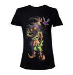 NINTENDO Legend Of Zelda Men's Skull Kid Majoras Mask T-Shirt, Large, Black