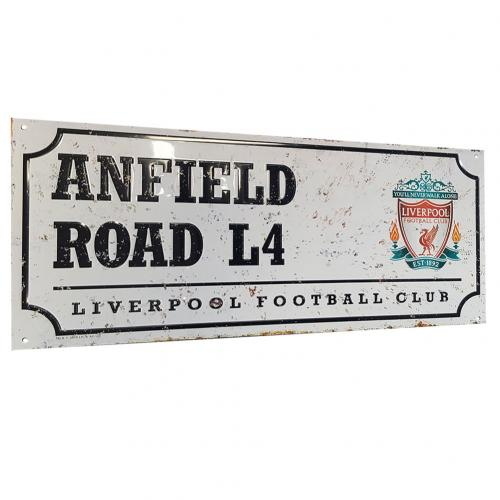 Liverpool F.C. Retro Street Sign