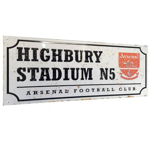 Arsenal F.C. Retro Street Sign