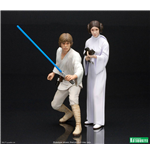 Star Wars ARTFX+ Statue 2-Pack Luke Skywalker & Princess Leia 15 cm