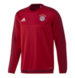 2015-2016 Bayern Munich Adidas Training Top (Red) - Kids