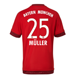 2015-16 Bayern Munich Home Shirt (Muller 25)