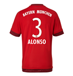 2015-16 Bayern Munich Home Shirt (Alonso 3)
