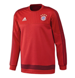 2015-2016 Bayern Munich Adidas Sweat Top (Red)