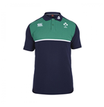 2015-2016 Ireland Rugby Cotton Training Polo Shirt (Navy)