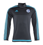 2015-2016 Schalke Adidas Training Top (Grey) - Kids