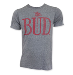 BUDWEISER Men's Gray Bud T-Shirt