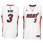 Mens Miami Heat Dwyane Wade adidas White New Swingman Home Jersey