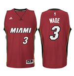 Mens Miami Heat Dwyane Wade adidas Red New Swingman Alternate Jersey
