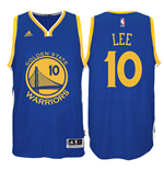 Mens Golden State Warriors David Lee adidas Royal Blue New Swingman Road Jersey