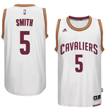 Mens Cleveland Cavaliers J. R. Smith adidas White New Swingman Home Jersey