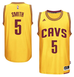 Mens Cleveland Cavaliers J. R. Smith adidas Gold New Swingman Alternate Jersey