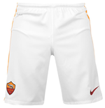 2015-2016 AS Roma Nike Home Shorts (White)