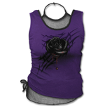 Black Rose Dew - 2in1 Mesh Top Purple