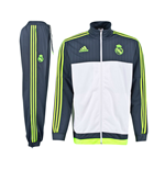 2015-2016 Real Madrid Adidas PES Tracksuit (White) - Kids