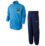 2015-2016 Barcelona Nike Little Boys Tracksuit (Blue) - Kids