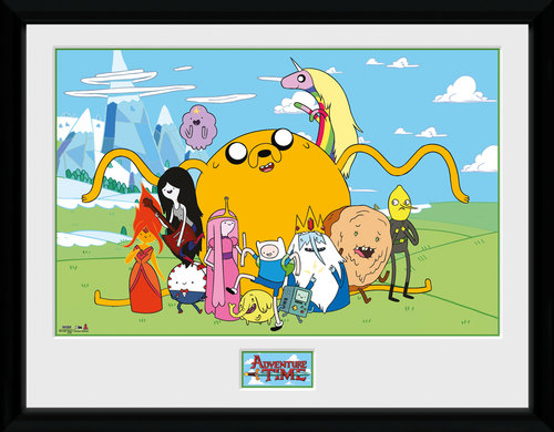 Adventure Time Group Framed Collector Print