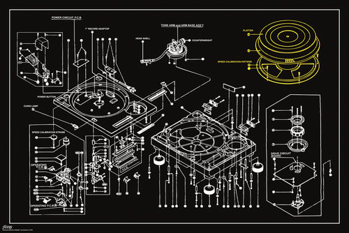 Steez Decks Technical Drawing Maxi Poster