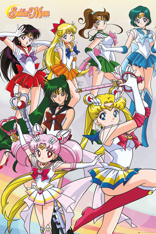 Sailor Moon Team Maxi Poster