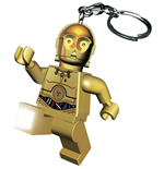 Lego Star Wars Mini-Flashlight with Keychains C-3PO