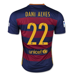 2015-16 Barcelona Home Shirt (Dani Alves 22) - Kids